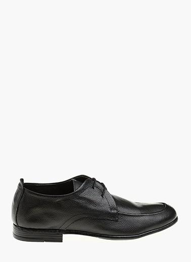Divarese %100 Deri Bağcıklı Klasik Ayakkabı Siyah